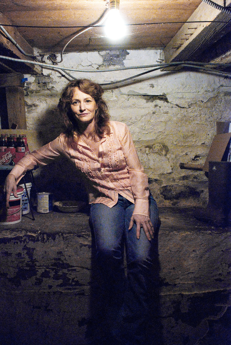 "Mellisa Leo at home in her basement. Academy Award winning actress for ""The Fighter""."