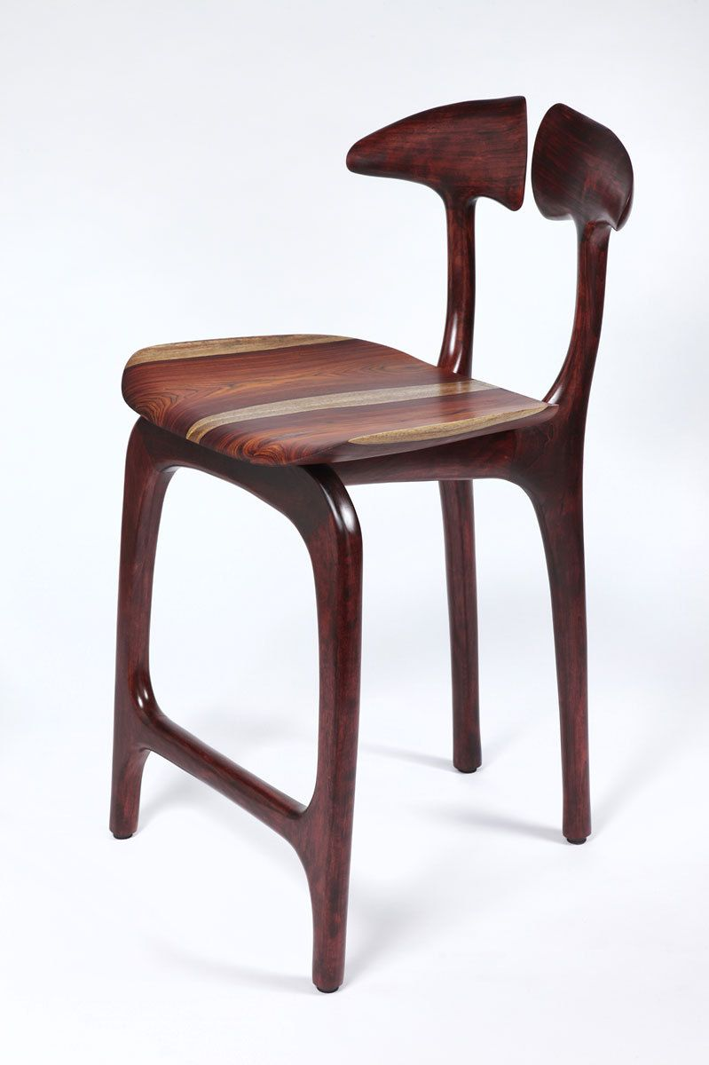 Swallowtail barstool - counter height, no arms