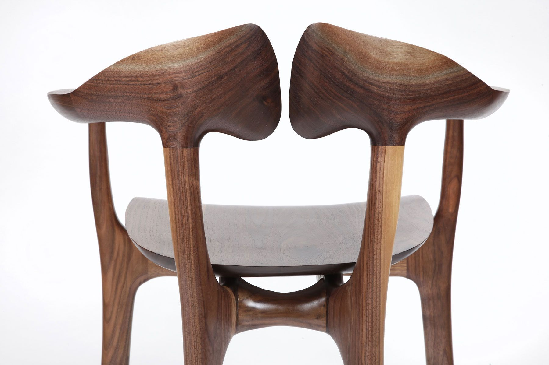 Swallowtail barstool - back detail