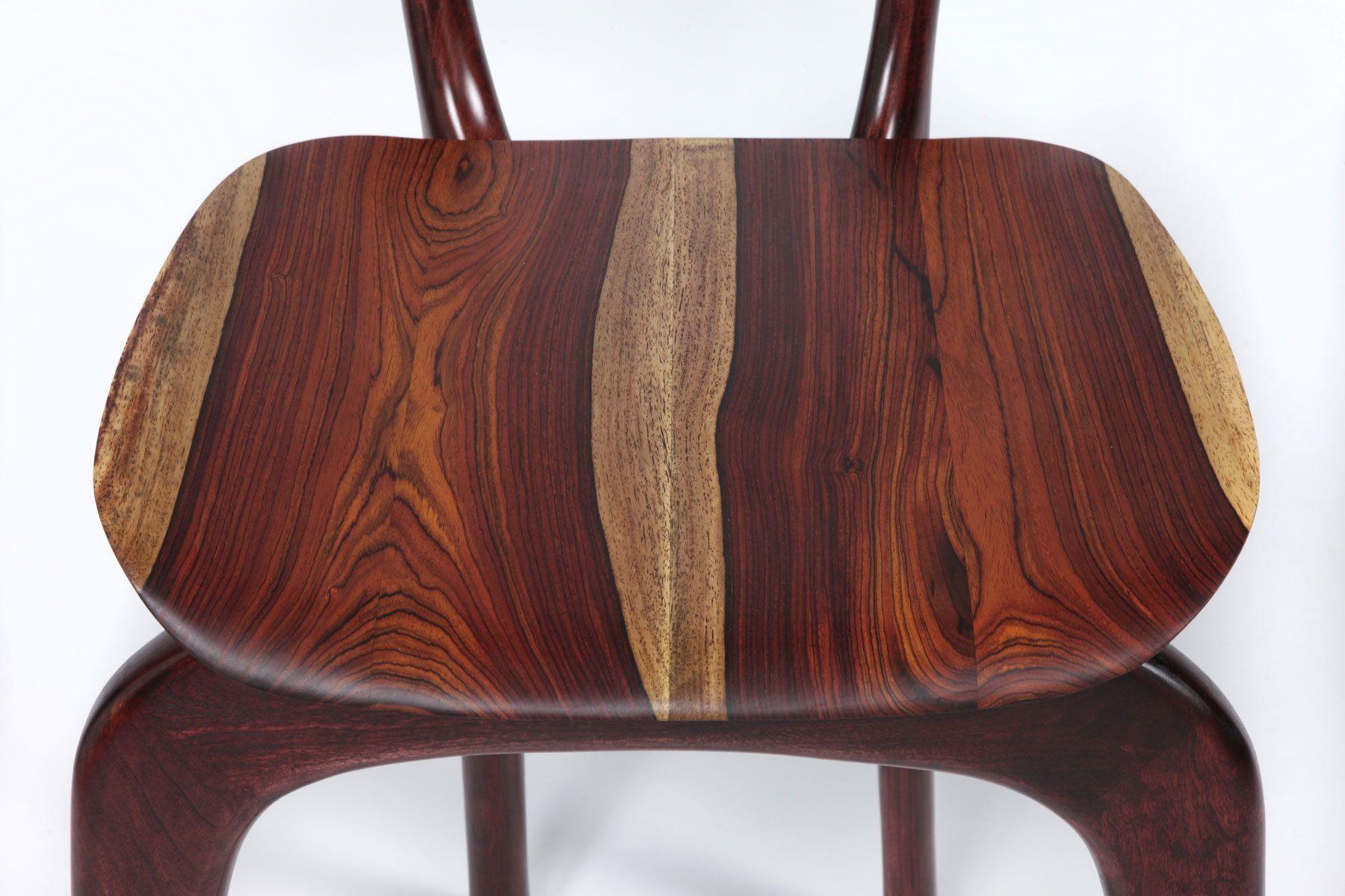 Swallowtail barstool - seat detail