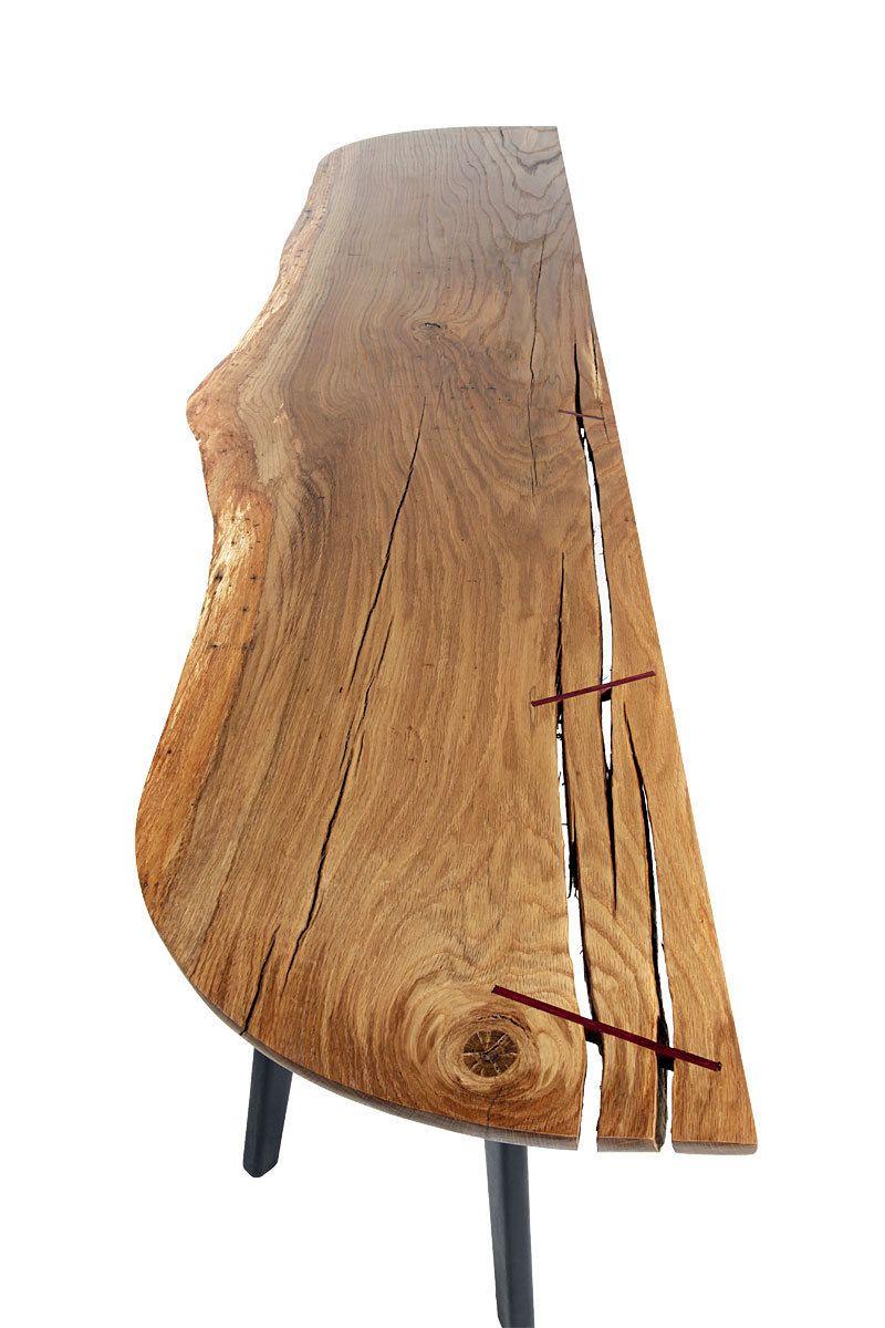 Pogonia table - detail of oak top