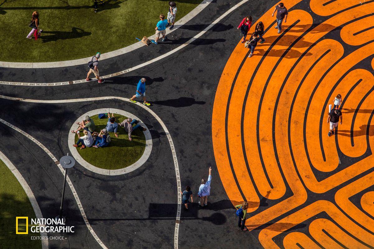Labyrinth, Seattle Center, Seattle, Washington