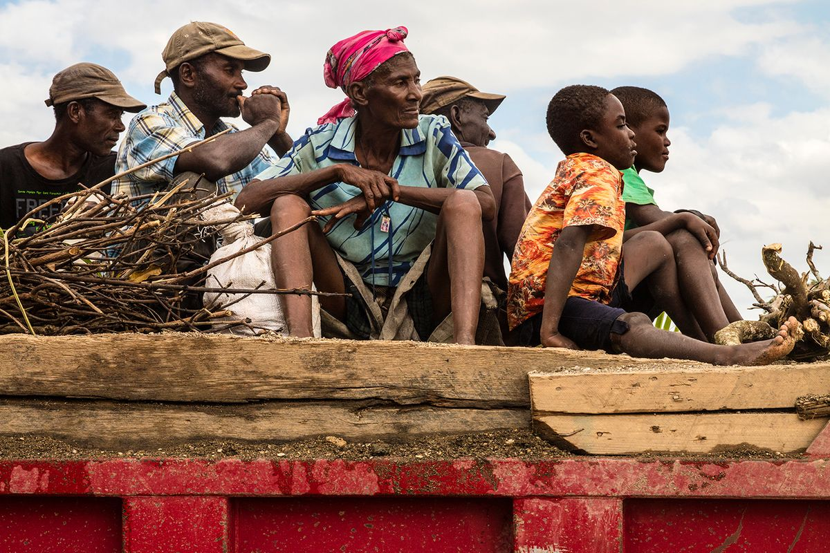 Field Workers on the Move, Gonaives, Haiti