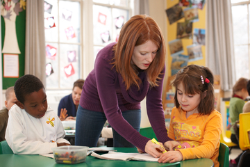 Teacher helping students, Education photography Toronto