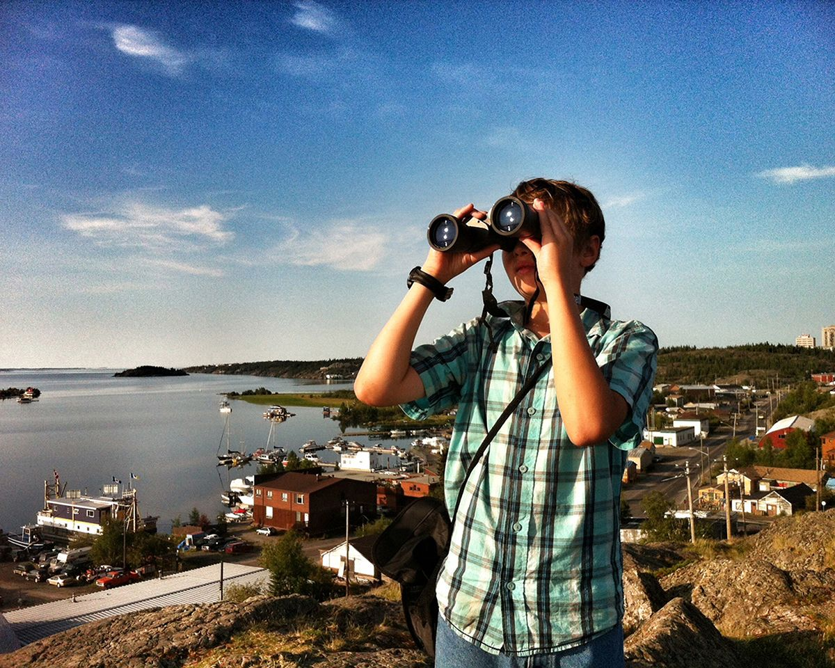 Never stop exploring, Pilot's lookout, Yellowknife