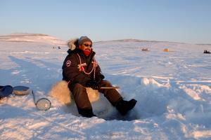 Ice fishing - Paul Okalik, Remote photographer