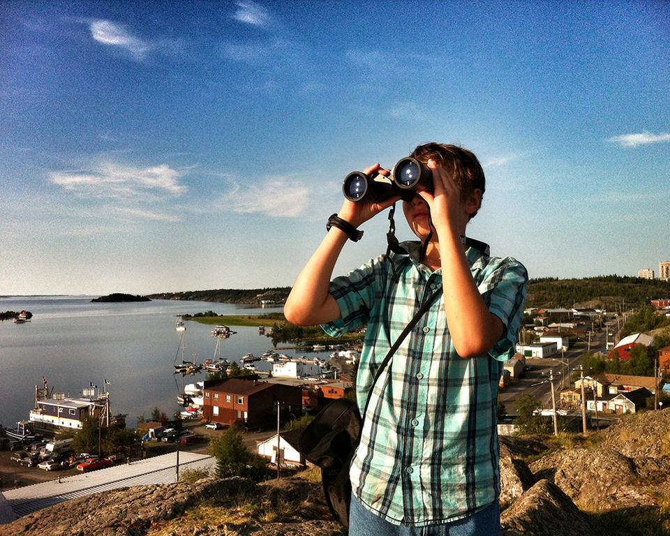 Never stop exploring, Pilot's lookout, Yellowknife