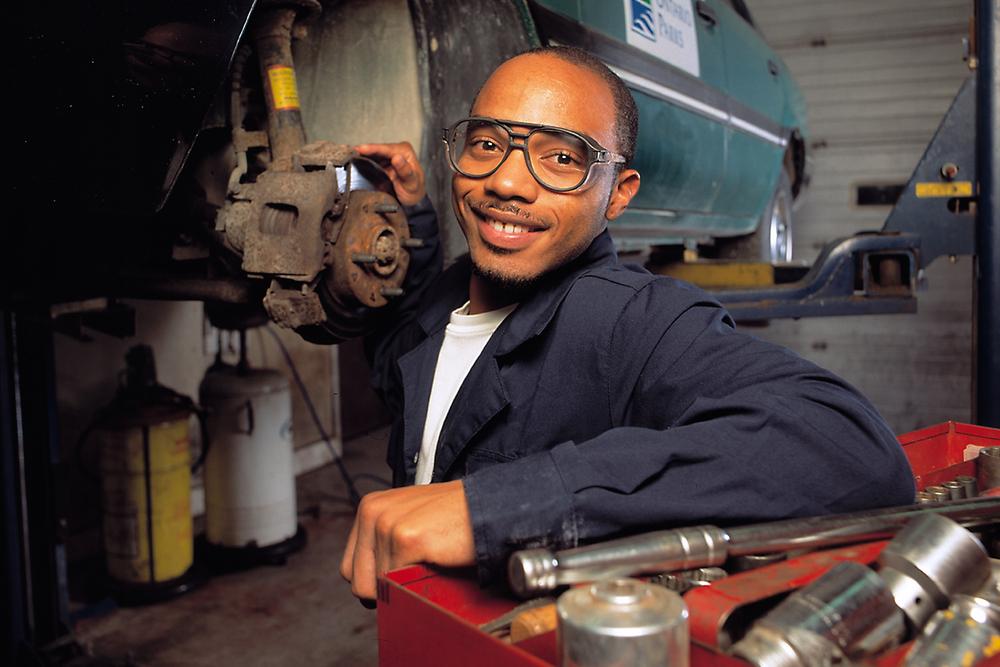 Mechanic - environmental portrait