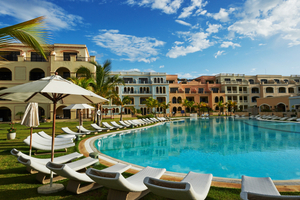 AlSol Cap Cana, Luxury Village, Dominion Republic, Pool early morning, resort photography