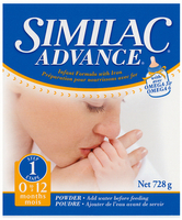 Similac Advance 0-12 packaging