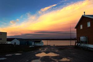 Midnight Sunset August Cambridge Bay, Nunavut