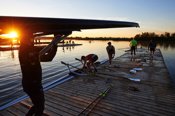 Hanlan Boat Club Time Trials, Toronto location photography