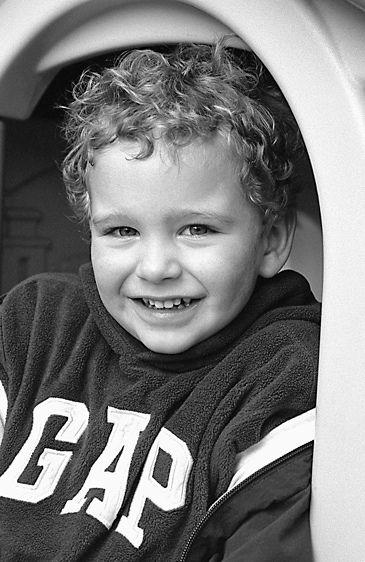 Boy in slide