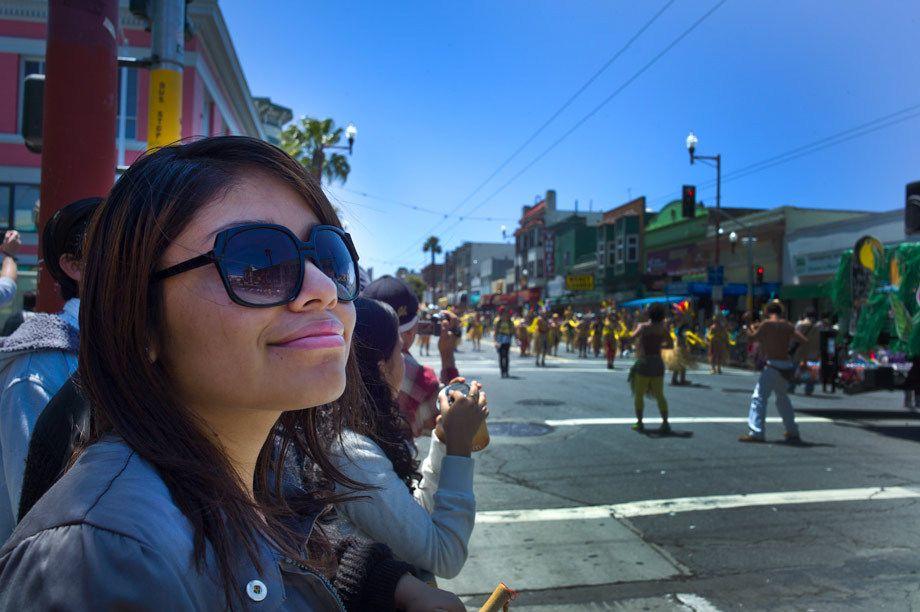 Carnaval Parade observer, San Francisco, CA
