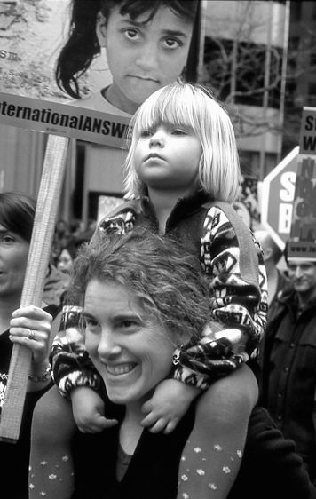 Mother & Daughter at Protest, San Francisco, CA