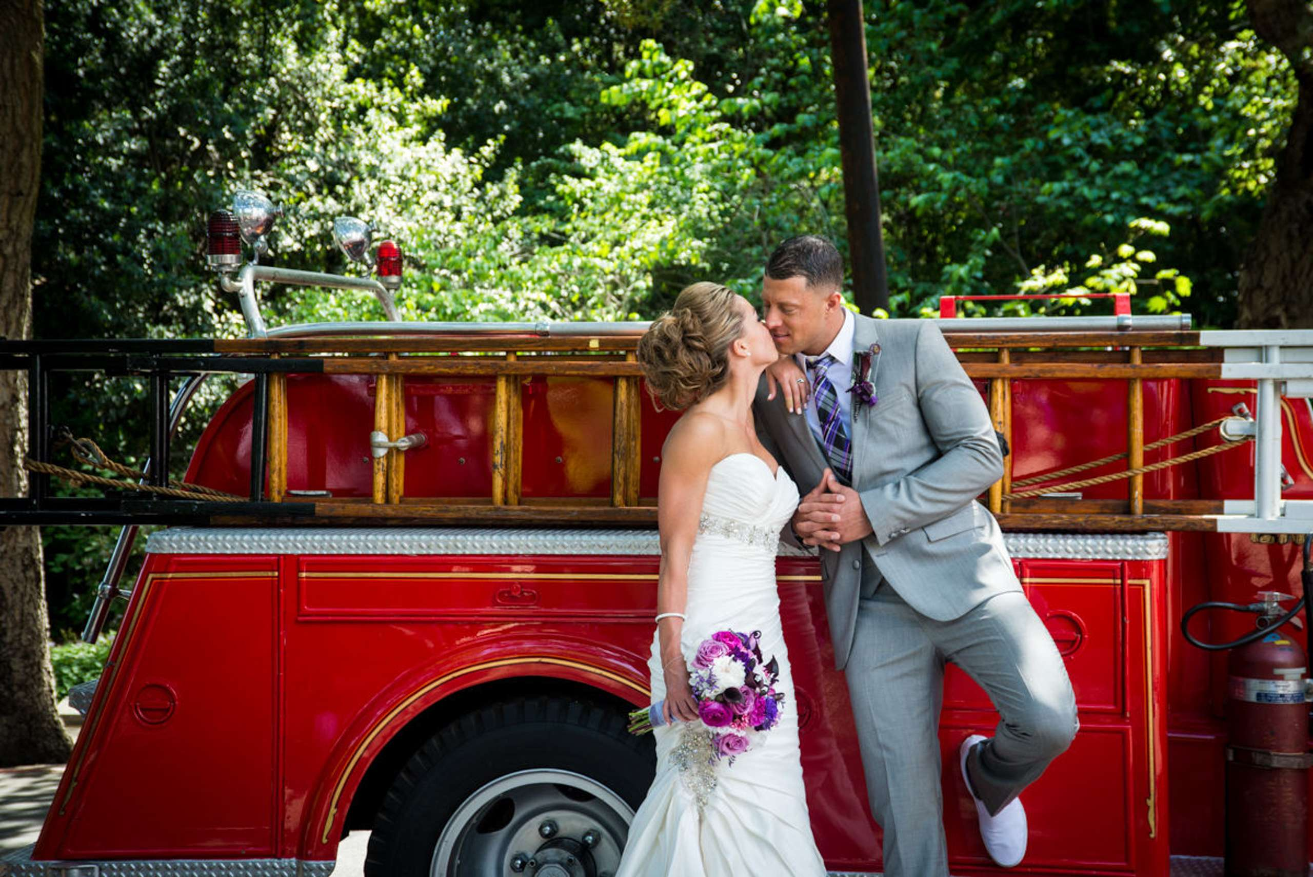 Fireman Bride & Groom