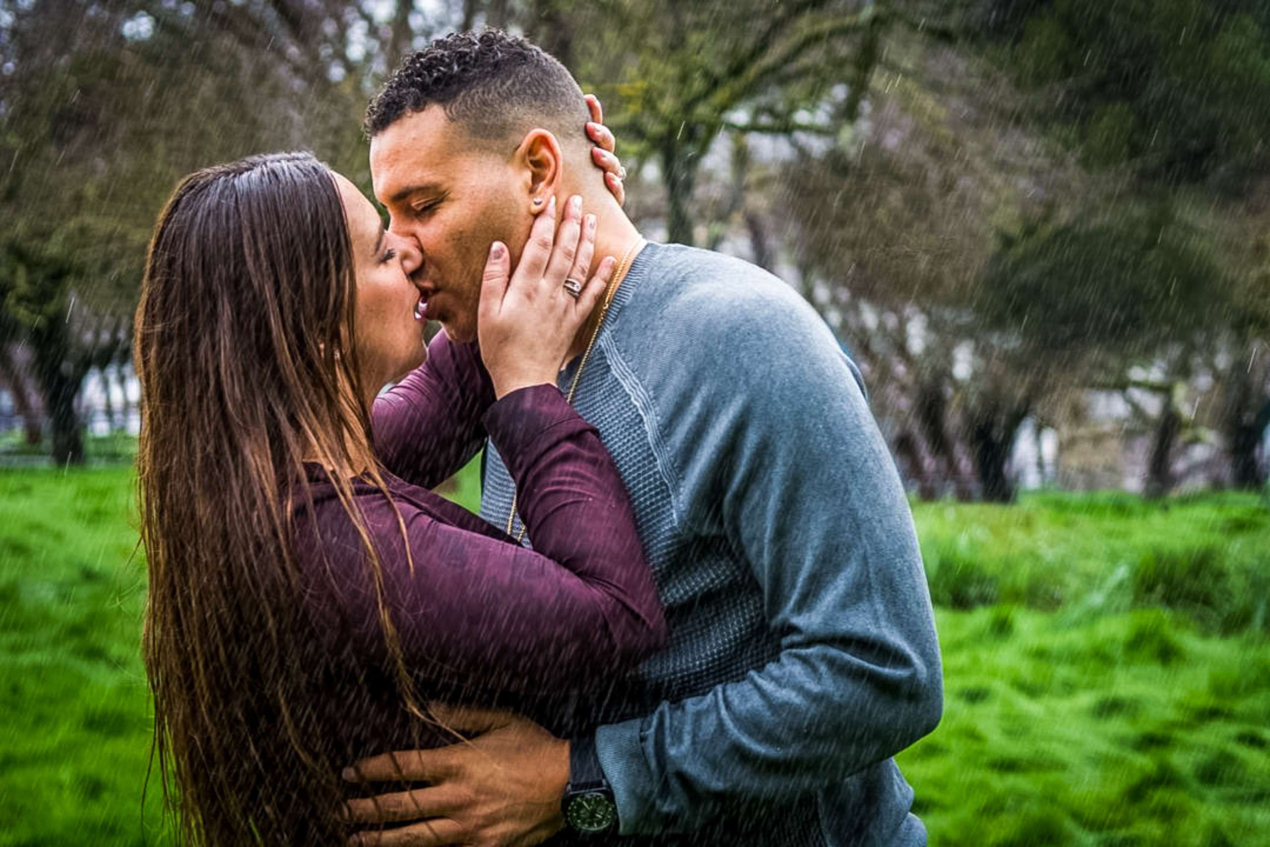 Rainy Engagement Session
