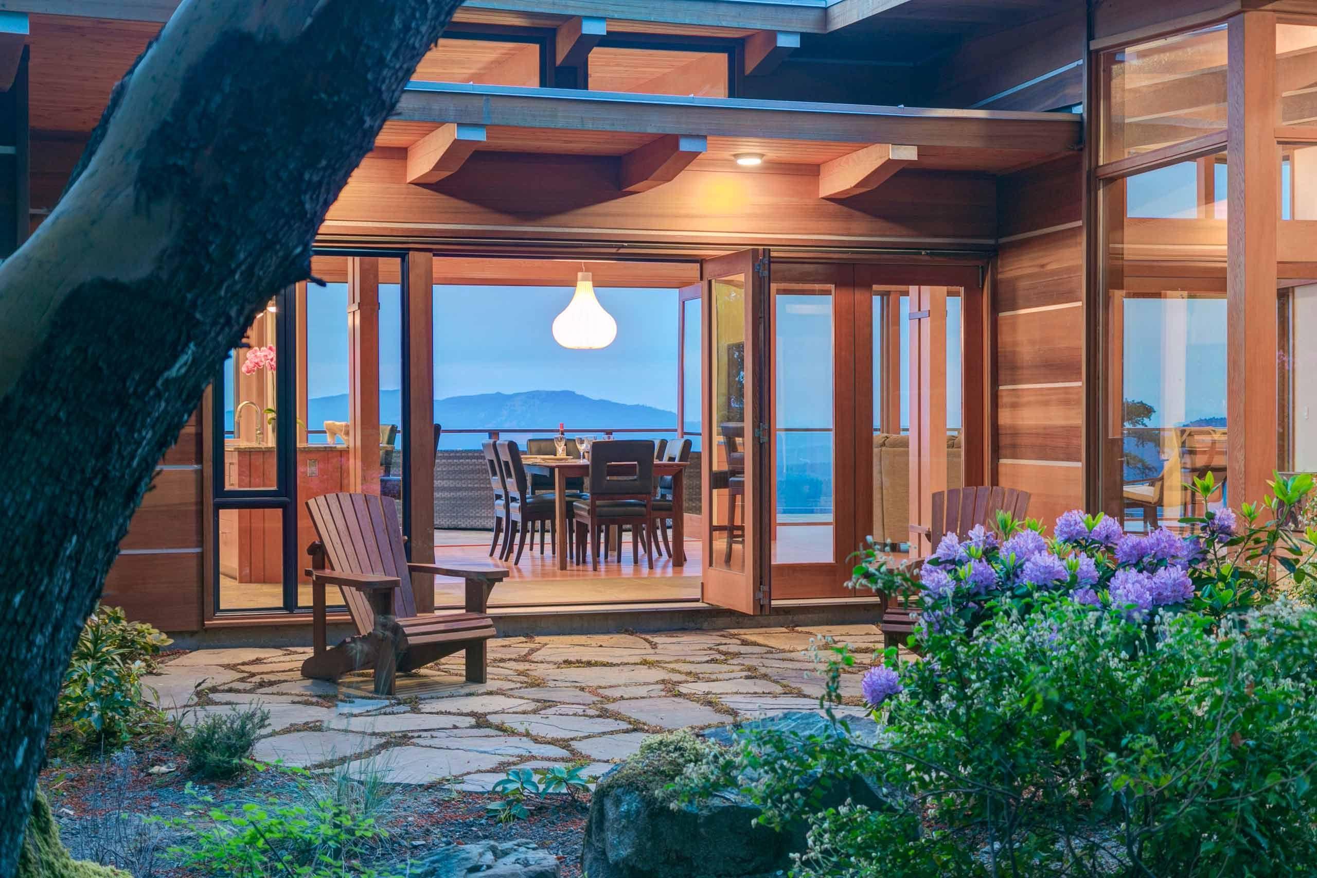Luxury house photo - exterior rear patio