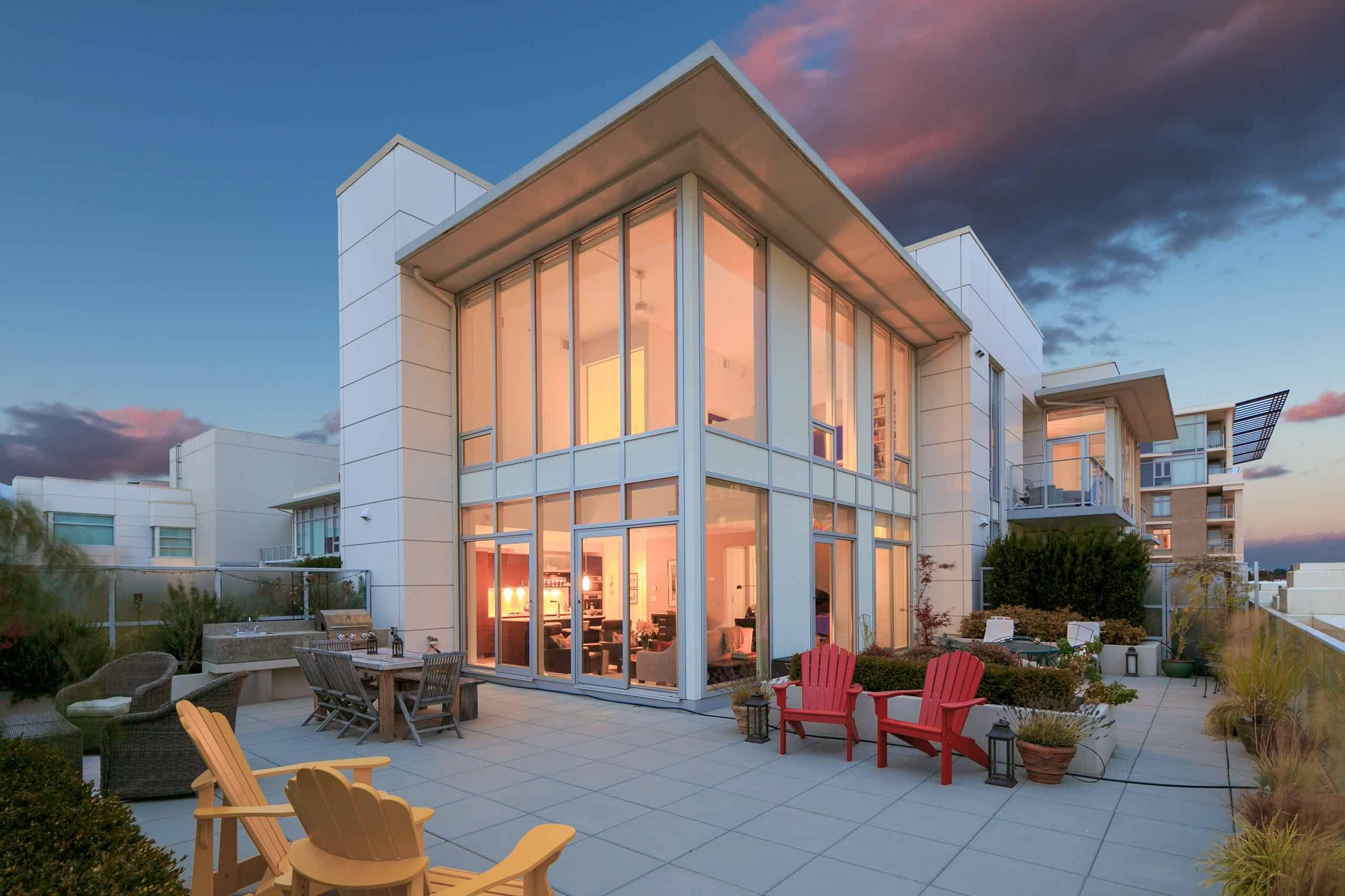 Luxury house photo - exterior rear deck