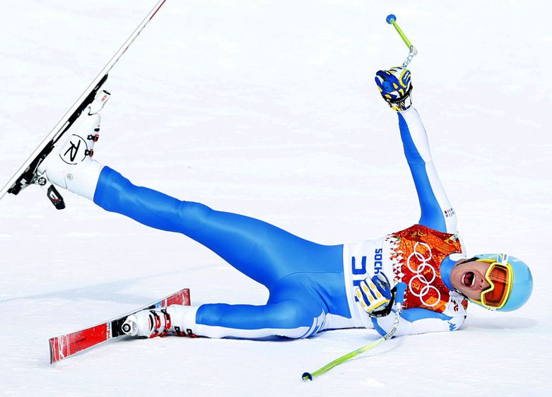 Christof Innerhofer of Italy. - Sochi, Russia