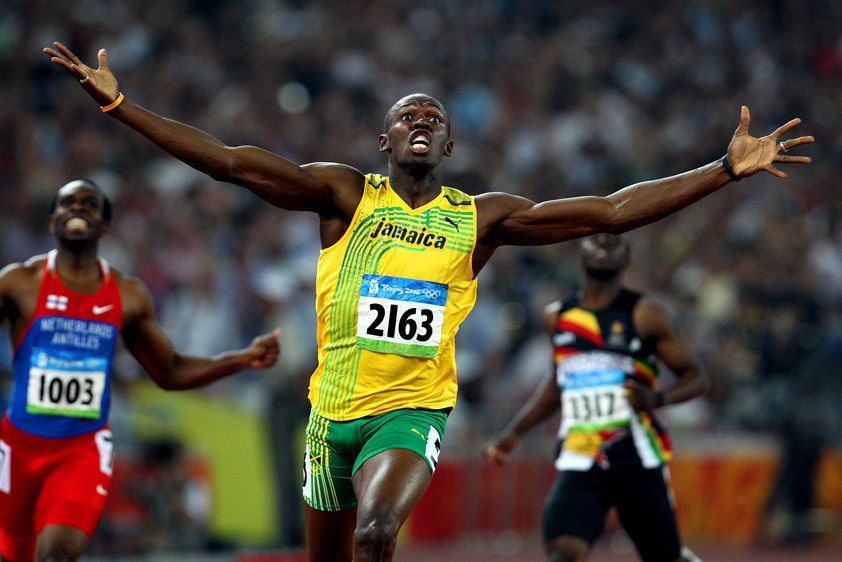 Usain Bolt breaks World Record. Beijing, China