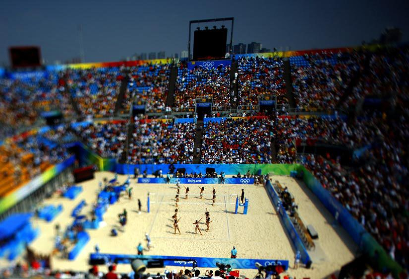 Chaoyang Park Beach Volleyball Ground. Beijing, China