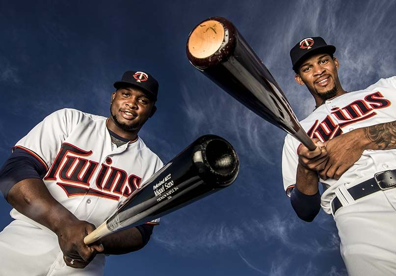 Minneosta Twins - Miguel Sano and Byron Buxton - Fort Myers, FL.