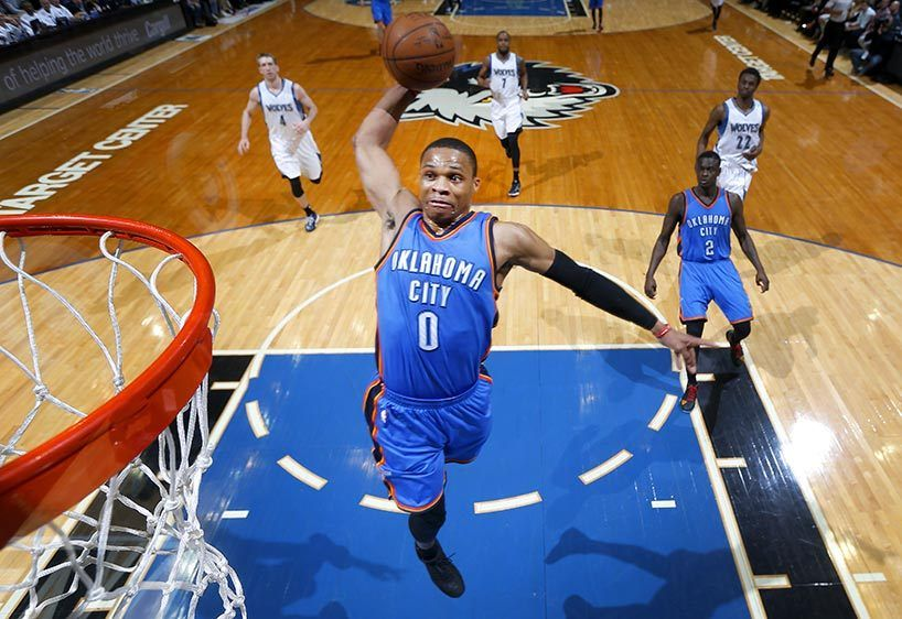 Russell Westbrook dunk.
