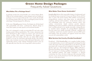 Green Home Design Packages