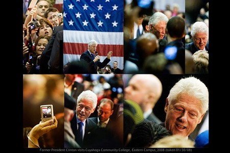 President Bill Clinton at political rally, cleveland, ohio