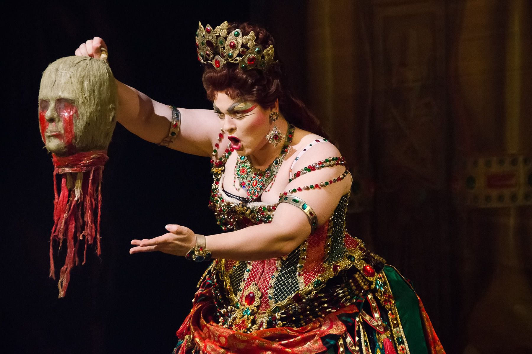 """Michele McConnell as """"Carlotta Giudicelli"""" in the Broadway production of THE PHANTOM OF THE OPERA."""