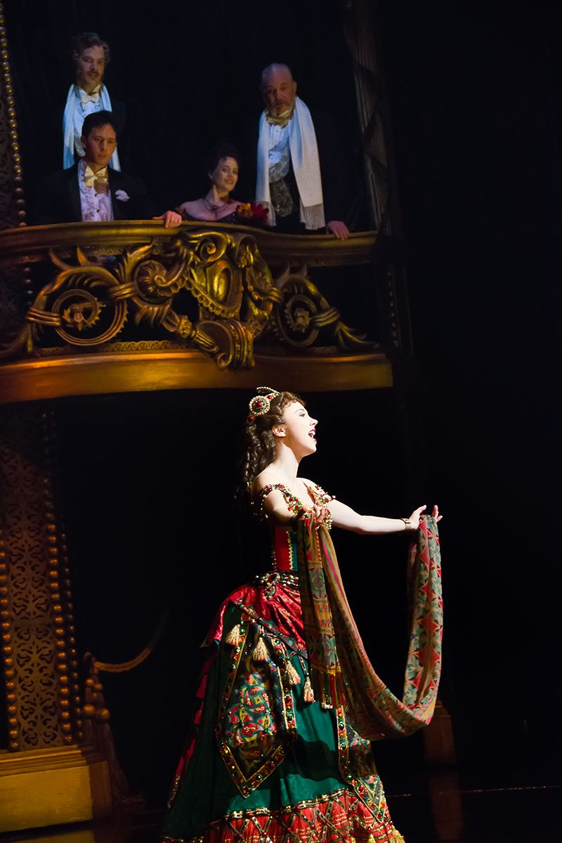 Samantha Hill (Christine) and Kyle Barisich (Raoul) in the Broadway production of THE PHANTOM OF THE OPERA.