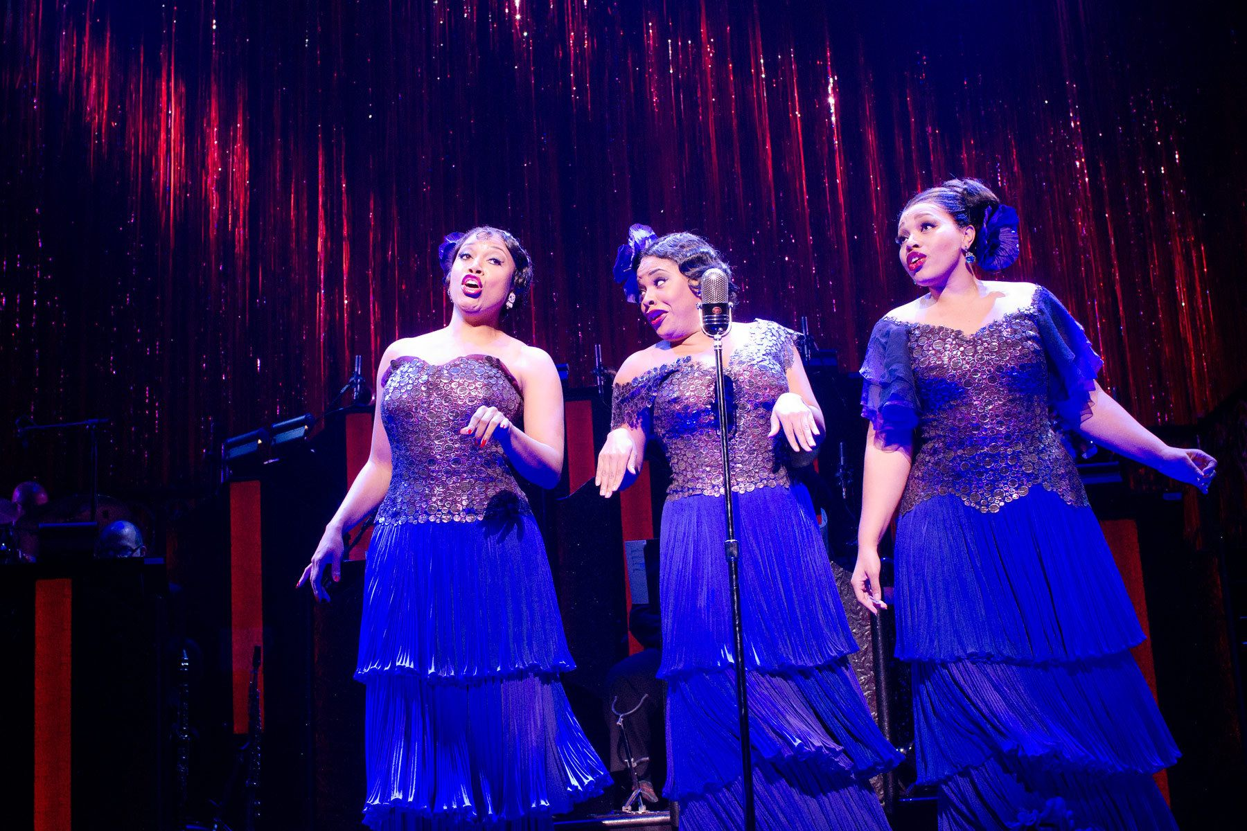 Rosena M. Hill Jackson, Bryonha Marie Parham, and Carmen Ruby Floyd in the Broadway production of AFTER MIDNIGHT.