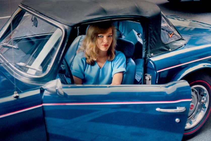 Blonde in a Blue Convertible, New York,  NY 1981