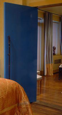 NYC apartment, the blue door