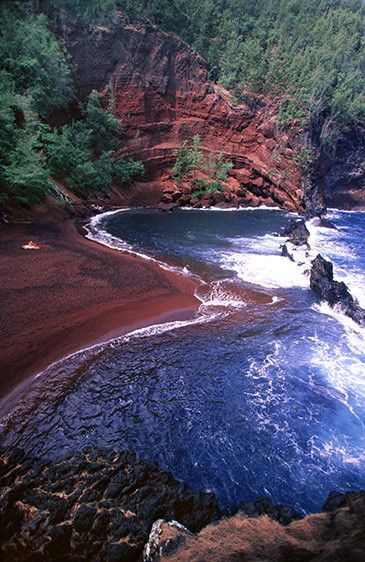 Red Sand Beach near Hana - Maui, Hawaii