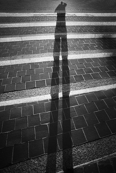 Self Portrait in Stairs - Cincinnati, Ohio