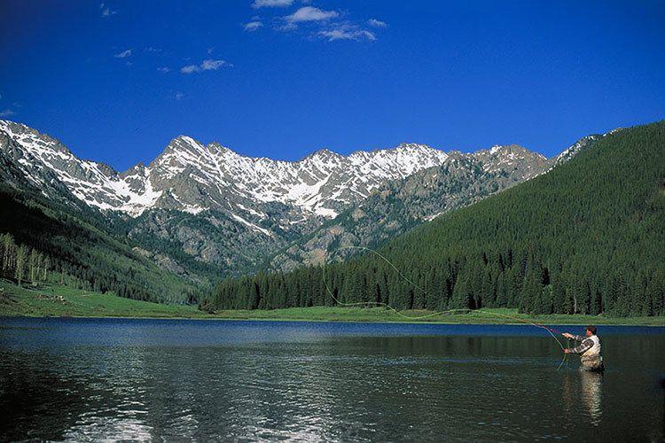Fly Fishing at Piney River Ranch - near Vail, Colorado