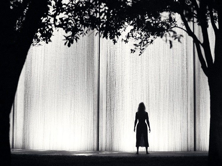 Water Wall Silhouette - Houston, Texas