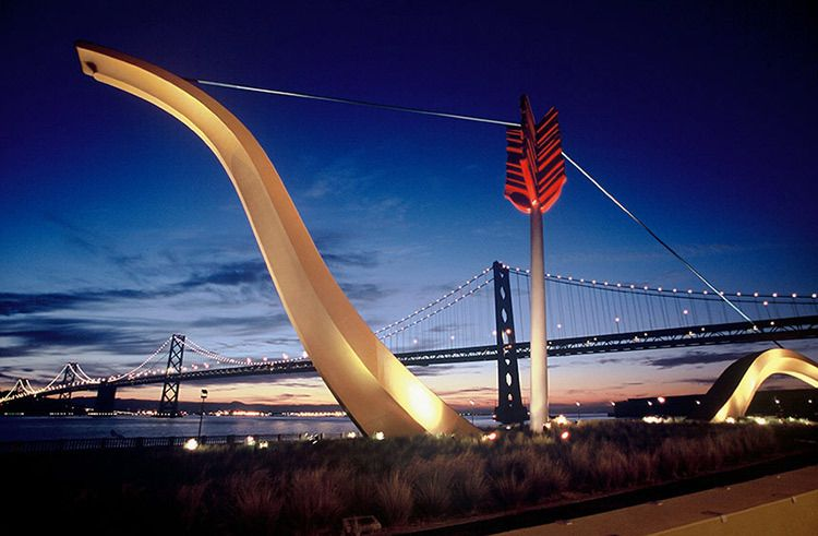 Bow & Arrow and Bay Bridge - San Francisco