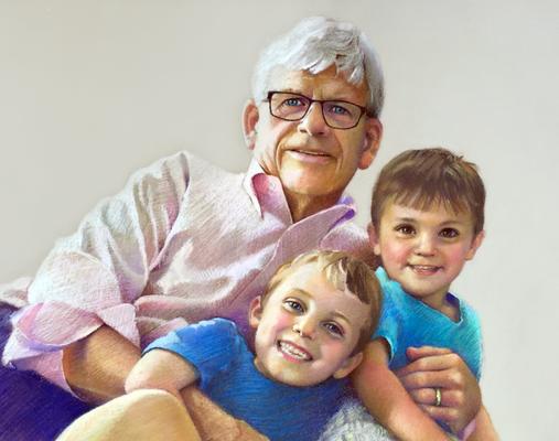 Dick Gochanuer and Grandkids