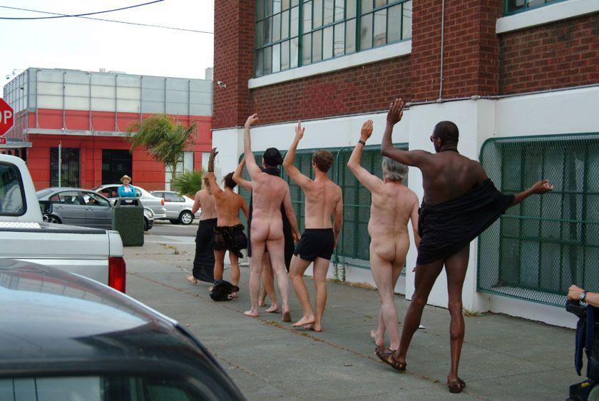 Nude performers.