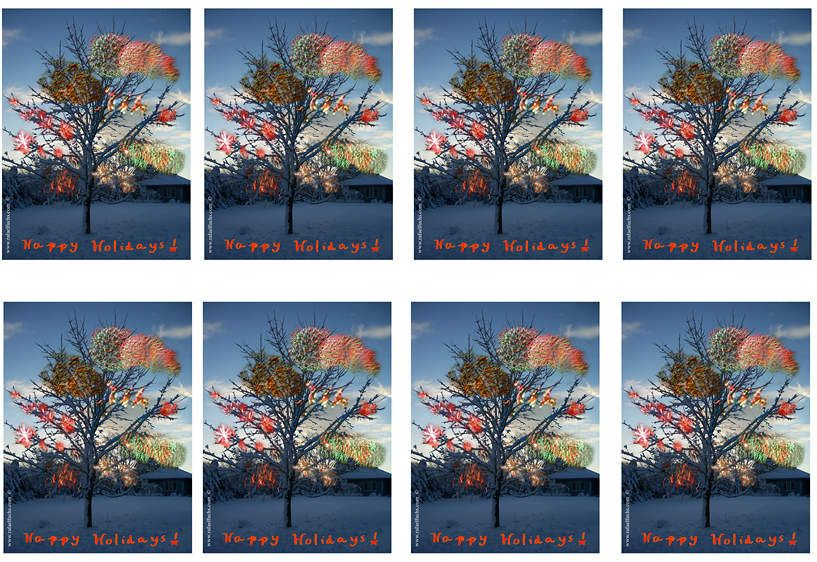 Happy Holidasys cards 2006-7
