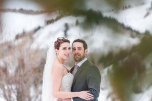 Ilana_Dave_Canyons_Resort_Park_City_Utah_Bride_Groom_Posing_on_Slopes.jpg