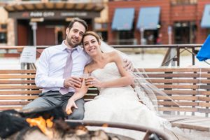 Ilana_Dave_Canyons_Resort_Park_City_Utah_Relaxing_in_Front_of_Fire_After_Skiing_in_Wedding_Dress_and_Suit.jpg