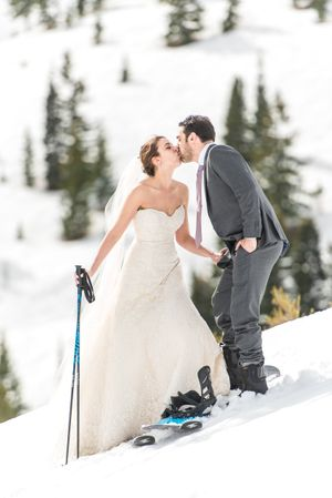 Ilana_Dave_Canyons_Resort_Park_City_Utah_Bride_Groom_Stolen_Kiss_on_Slopes.jpg
