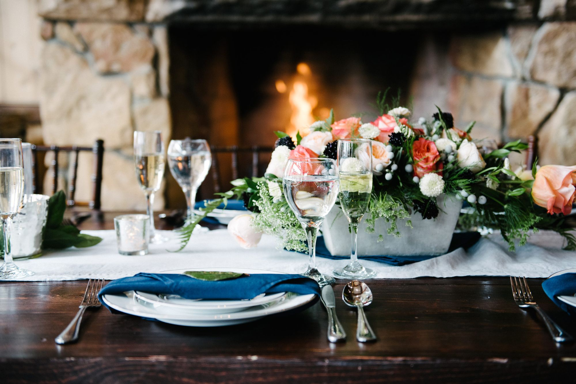 Rocky_Mountain_Bride_Winter_Elopement_Deer_Valley_Empire_Lodge_Crackling_Fire_Coral_Floral_Centerpiece.jpg