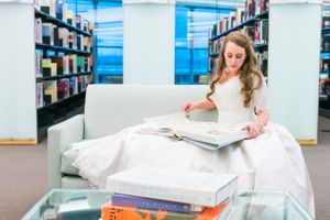 Katelyn_David_Park_City_Utah_Bride_Studying_Book_Library.jpg