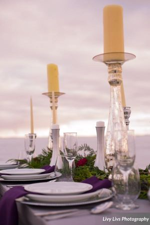 Salt_Air_Wedding_Shoot_Saltair_Resort_Salt_Lake_City_Utah_White_Dishware_Burgundy_Evergreen_Decor.jpg