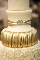 Ruffled Gold Cake